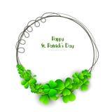 Happy St. Patricks Day celebration with frame. Royalty Free Stock Photography