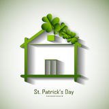 Happy St. Patricks Day celebration with hut. Royalty Free Stock Image