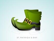 Happy St. Patricks Day celebration Leprechaun boot. Stock Image