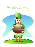 Happy St. Patricks Day celebration with leprechaun. Royalty Free Stock Images