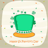 Happy St. Patricks Day celebration leprechaun hat. Stock Photo