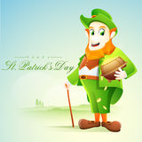 Happy St. Patrick's Day celebration with leprechaun. Stock Photos