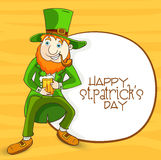 Happy St. Patrick's Day celebration with leprechaun. Stock Images