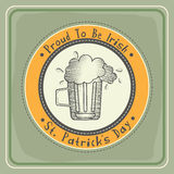 Happy St. Patrick's Day celebration with rubber stamp. Stock Images