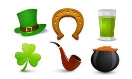 Happy St. Patrick's Day celebration set. Stock Photography