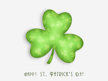 Happy St. Patrick's Day celebration with shamrock leaf. Stock Image