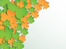 Happy St. Patricks Day celebration with shamrock leaves. Royalty Free Stock Images