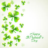 Happy St. Patrick's Day celebration with shamrock leaves. Stock Photography
