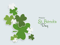 Happy St. Patricks Day celebration with shamrock leaves. Royalty Free Stock Photo