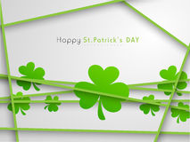 Happy St. Patricks Day celebration with shamrock leaves. Royalty Free Stock Photography