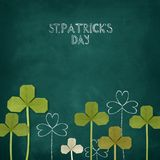 Happy St. Patrick`s Day on a chalkboard Stock Photo