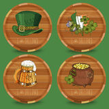 Happy St. Patrick's day. Coasters. Beer Stock Photo