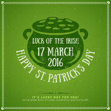 Happy St. Patrick's Day Greeting Card or Flyer Stock Photography