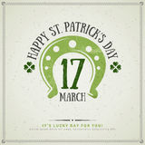 Happy St. Patrick's Day Greeting Card Royalty Free Stock Photography