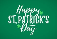 Happy St. Patrick`s Day greeting card Stock Photography