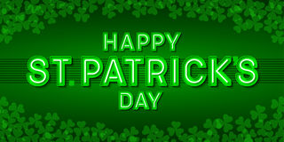 Happy St. Patrick`s Day greeting card Stock Image