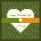 Happy St. Patrick`s Day Greeting Card / Poster Stock Photography
