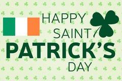 Happy St. Patrick's Day greeting card. Vector illustration. Stock Illustration
