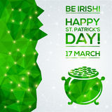Happy St. Patrick's Day Greeting card. Stock Images