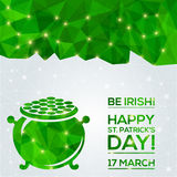 Happy St. Patrick's Day Greeting card. Stock Photography