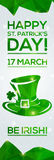 Happy St. Patrick's Day Greeting card. Royalty Free Stock Photos