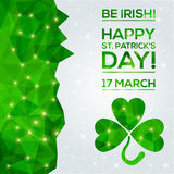 Happy St. Patrick's Day Greeting card. Stock Photo