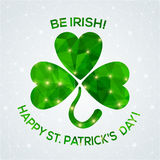 Happy St. Patrick's Day Greeting card. Royalty Free Stock Photo