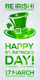 Happy St. Patrick's Day Greeting card. Royalty Free Stock Photography