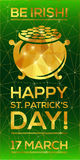 Happy St. Patrick's Day Greeting card. Stock Image