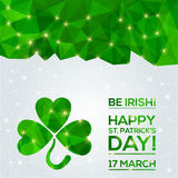 Happy St. Patrick's Day Greeting card. Stock Photos