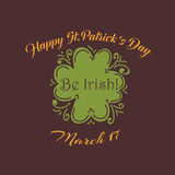 Happy St. Patrick's Day greetings typography design Stock Photography