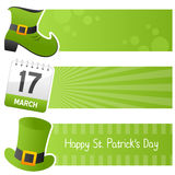 Happy St. Patrick`s Day Horizontal Banners Stock Photos