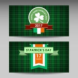 Happy St. Patrick`s Day! Isolated vector emblem Stock Images