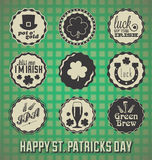 Happy St. Patricks Day Labels Vector Illustration