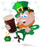 Happy St. Patrick's Day Leprechaun Stock Photo
