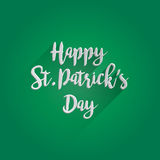 Happy St. Patrick's Day Lettering Design Stock Image