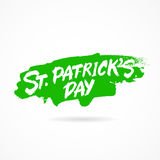 Happy St. Patrick`s Day. Lettering Stock Photo
