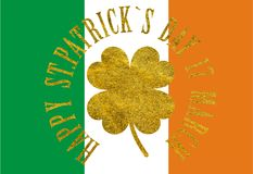 Happy St. Patrick`s Day 17 march Royalty Free Stock Photos