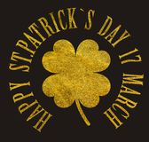 Happy St. Patrick`s Day 17 march Royalty Free Stock Photography