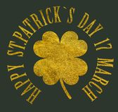 Happy St. Patrick`s Day 17 march Royalty Free Stock Photo