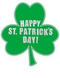 Happy St. Patrick S Day On A Shamrock! Stock Photography