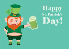 Happy St. Patrick's Day. Saint Patrick's Day. Celebrated in March, in honor of St. Patrick, the patron saint of Ireland. The symbol is a green color. Celebrating Royalty Free Stock Photography