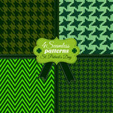 Happy St. Patrick's Day.Seamless pattern Stock Photos