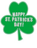 Happy St. Patrick's Day on a Shamrock! Stock Photography