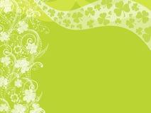 Happy St Patrick's Day Shamrock Leaves Swirls Stock Image