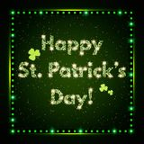 Happy St.Patrick`s Day with shining Background Royalty Free Stock Images