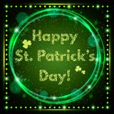 Happy St.Patrick`s Day with shining Background Stock Photography