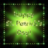 Happy St.Patrick`s Day with shining Background Stock Photo