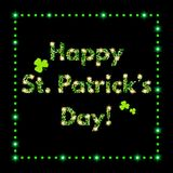 Happy St.Patrick`s Day with shining Background Royalty Free Stock Photos