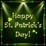 Happy St.Patrick`s Day with shining Background Royalty Free Stock Photography